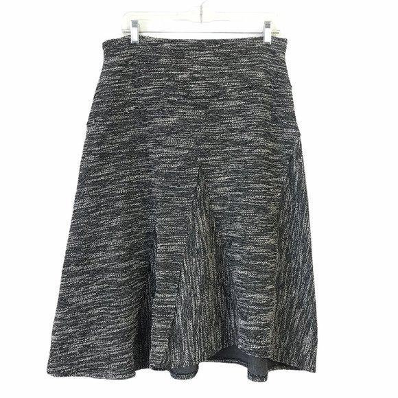 Halogen Woven A-Line Knit Stretch Midi Skirt #454